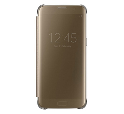 Funda Clear View S7 Oro