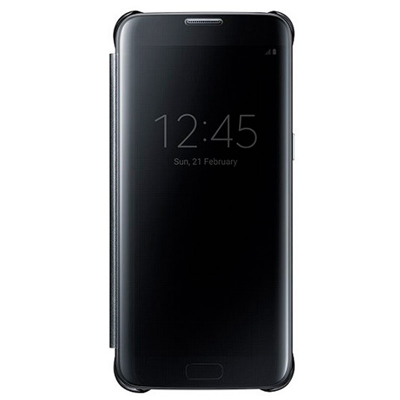Funda Clear View S7 Edge Negro